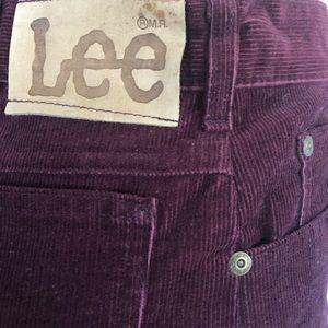 Vintage High Waisted Burgundy Lee Corduroy Jeans